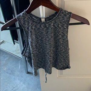 Heather Grey Lululemon crop shirt
